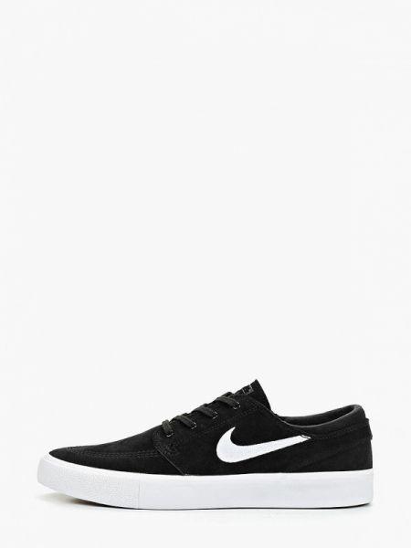 Низкие кеды черные замшевые Nike