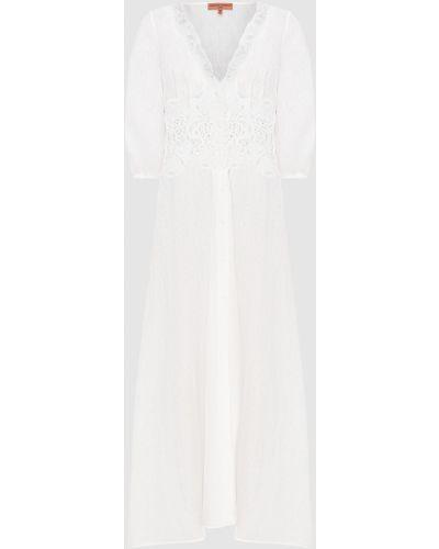 Льняное белое платье макси Ermanno Scervino
