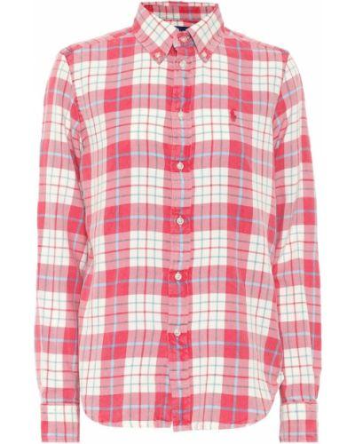 Ватная хлопковая бежевая рубашка с американской проймой Polo Ralph Lauren