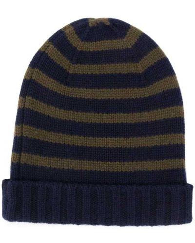 Zielona z kaszmiru czapka z printem Bonpoint