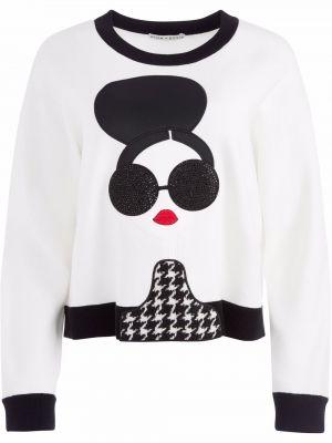 Шерстяной пуловер - белый Alice+olivia