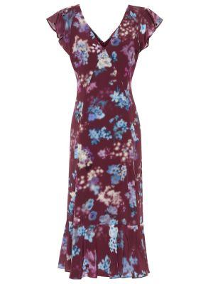 Шелковое платье миди - фиолетовое Altuzarra
