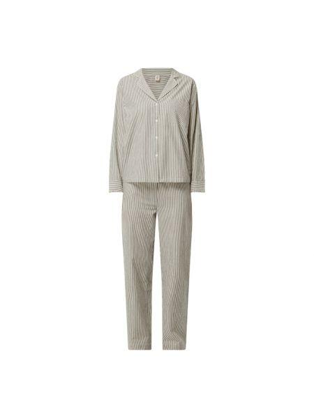 Spodni piżama bawełniana z długimi rękawami w paski Becksöndergaard