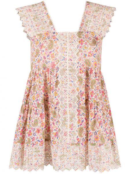 Платье мини в цветочный принт Etro