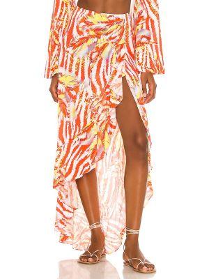Юбка на резинке - оранжевая Luli Fama