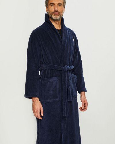 Халат с узором темно-синий Polo Ralph Lauren