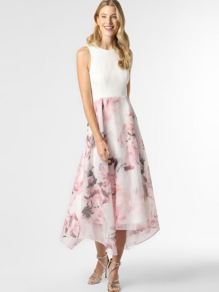 Beżowa sukienka wieczorowa Apriori