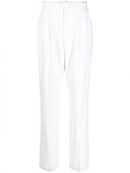 С завышенной талией белые кожаные брюки Ralph Lauren
