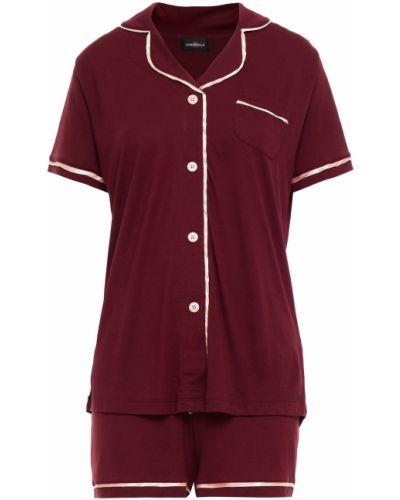 Satynowa piżama - bordowa Cosabella