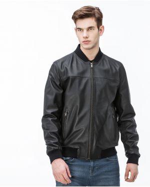 Куртка черная с манжетами Lacoste