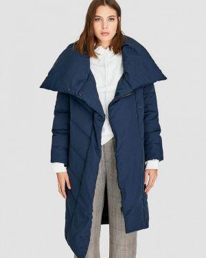 Зимняя куртка осенняя синий Stradivarius