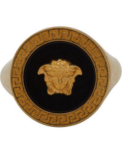 Кольцо золотое круглое Versace