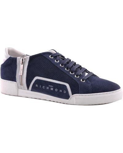 Кроссовки замшевые синий John Richmond