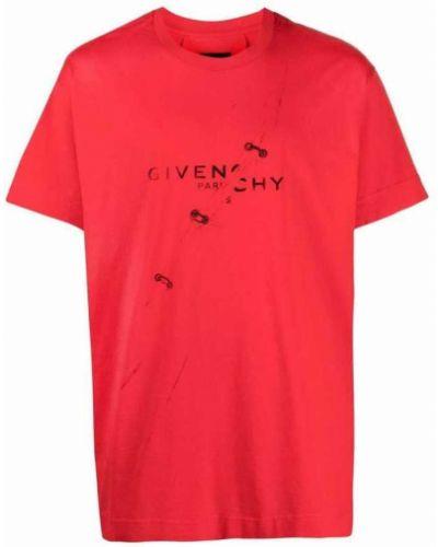 T-shirt - czerwona Givenchy