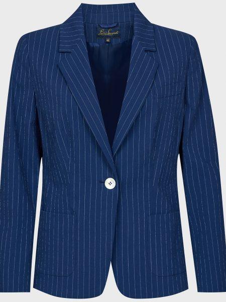 Пиджак на пуговицах - синий Luisa Spagnoli
