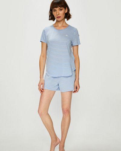 Пижама с шортами пижамный синий Lauren Ralph Lauren