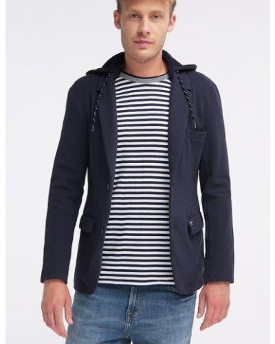 Пиджак с капюшоном - синий Broadway