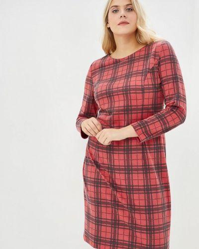 Повседневное платье красный осеннее Borboleta