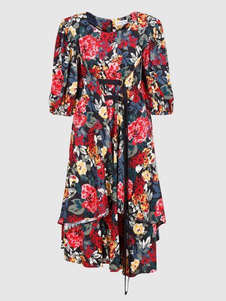 Платье миди - красное Sonia Rykiel