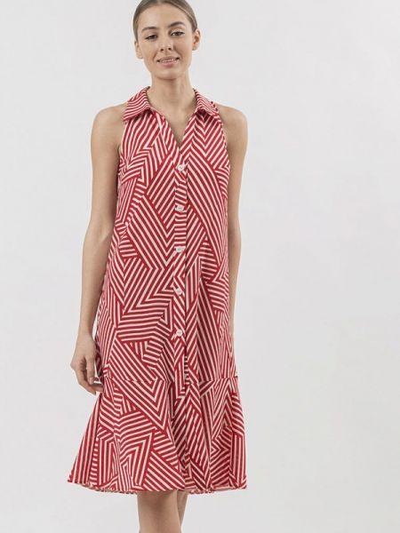 Платье платье-рубашка красный Raimaxx