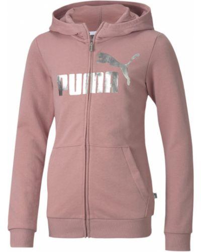 Куртка с капюшоном - розовая Puma