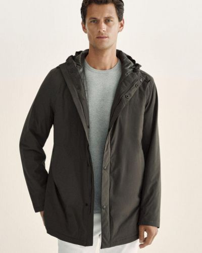 Демисезонная куртка хаки Massimo Dutti