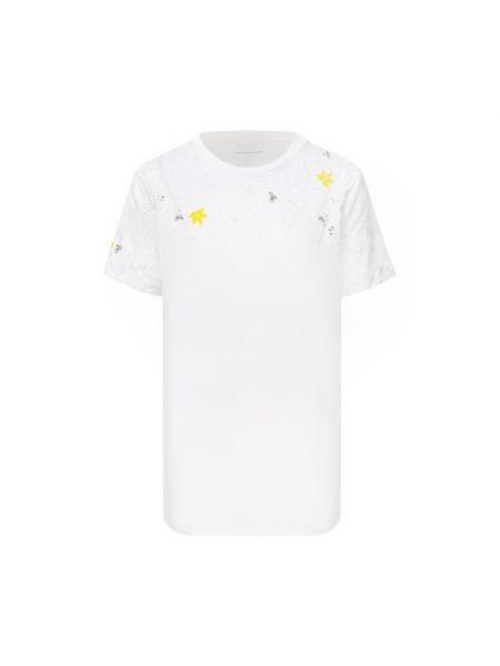 Хлопковая белая футболка немецкая Escada Sport