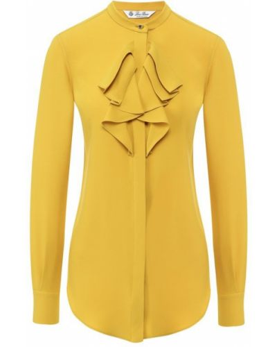 Блузка шелковая однотонная Loro Piana
