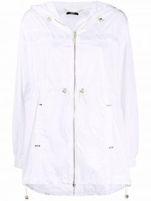 Белая куртка с капюшоном с нашивками Liu Jo