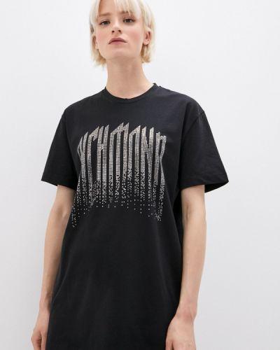 Черная футболка с короткими рукавами John Richmond