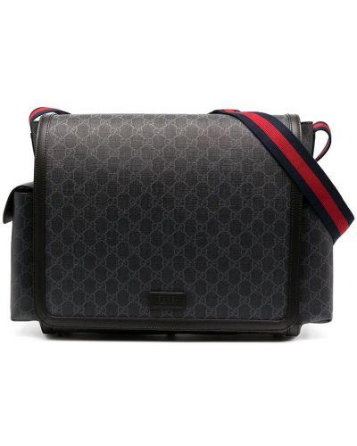 Кожаная сумка - серая Gucci