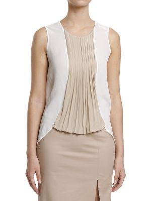 Шелковая блузка - белая Tru Trussardi