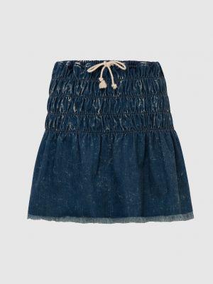 Джинсовая юбка мини - синяя Chloé