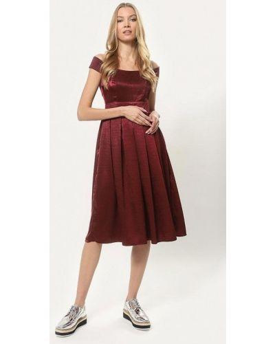 Платье с открытыми плечами осеннее Tutto Bene