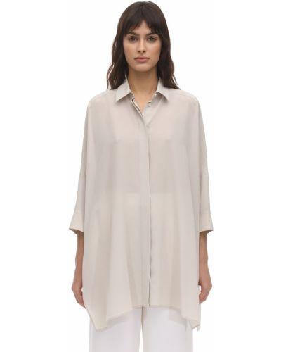 Классическая рубашка в полоску без воротника Agnona