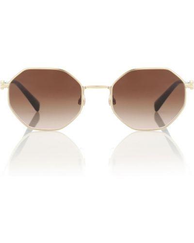 Коричневые солнцезащитные очки Valentino