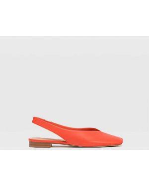 Туфли на плоской подошве красные Stradivarius