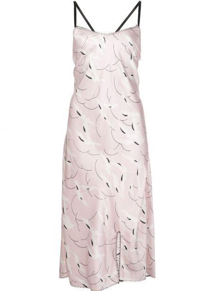 Sukienka z jedwabiu z paskiem Morgan Lane