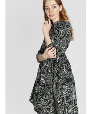 Однобортное классическое платье мини на пуговицах хаки Ostin