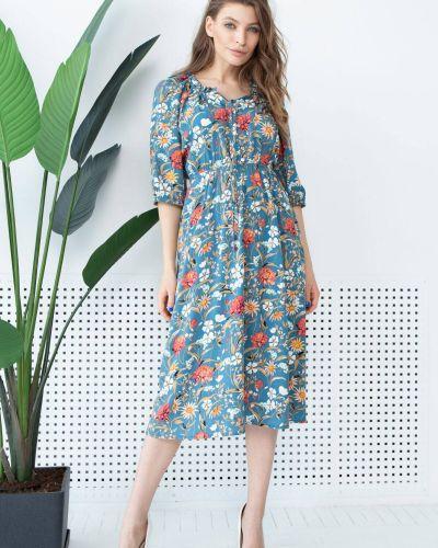 Платье с рукавом реглан - голубое Nenka