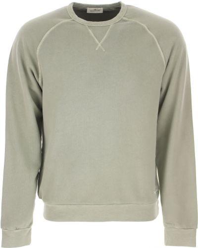 Zielona bluza długa bawełniana z długimi rękawami Brooksfield