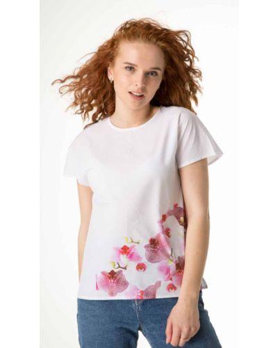 Блузка с принтом - белая Innoe