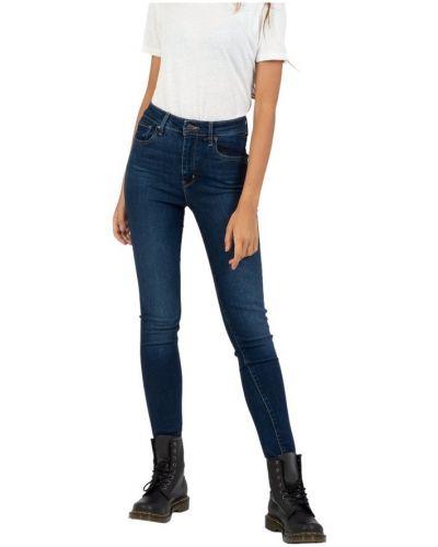 Niebieskie jeansy z wysokim stanem Levi's