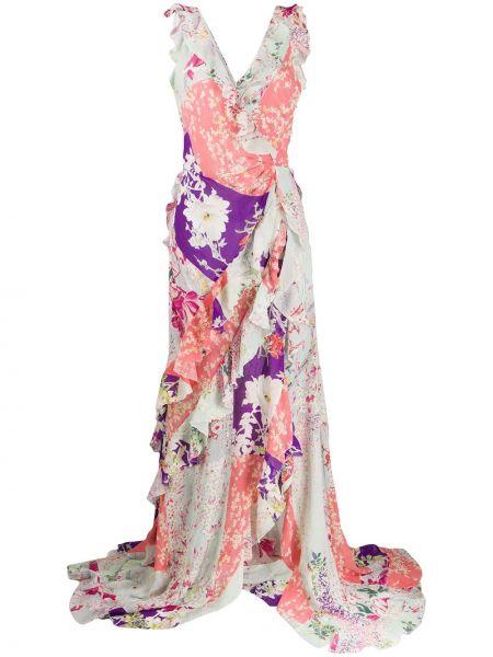 Платье с запахом с цветочным принтом Etro