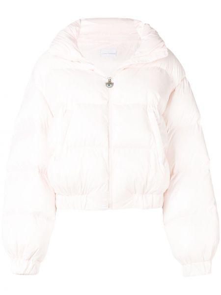 Różowa kurtka pikowana z haftem Chiara Ferragni