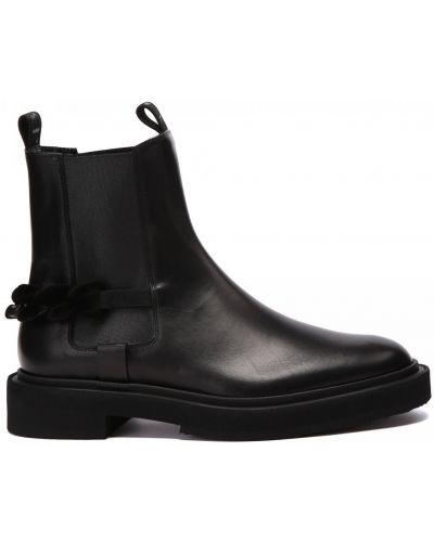 Черные резиновые ботинки Fabi