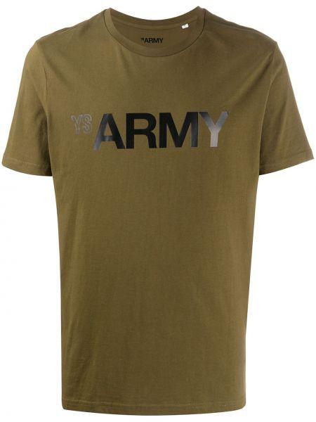 Koszula krótkie z krótkim rękawem z logo wojskowy Yves Salomon Homme