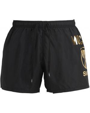 Czarne spodenki do pływania z nylonu z siateczką Moschino Underwear