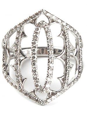 Золотистое серое кольцо с бриллиантом Loree Rodkin