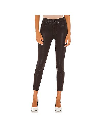 Коричневые джинсы-скинни с карманами на молнии 7 For All Mankind